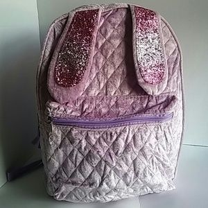 Other - Backpack Bookbag. Lilac color velvet glitter new